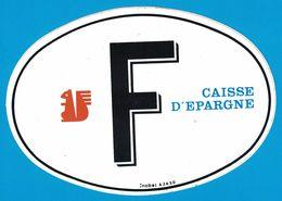 AUTOCOLLANT F  CAISSE D'EPARGNE ECUREUIL - Autocollants