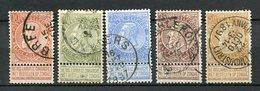 Belgien Nr.53/7       O  Used       (948) - 1893-1900 Schmaler Bart
