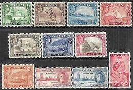 Aden   1939-48  Sc#16-23, 28-30 GEO VI MLH  2016 Scott Value $16.75 - Aden (1854-1963)