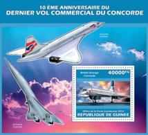 Guinea 2013   Concorde, (Air France, British Airways). - Guinée (1958-...)
