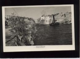 """Le Canal De Corinthie Corinthe édit. ? N° 8 Remorqueur """" Titan """" Tirant Un Cargo """" Filippo Grimani """" - Greece"""