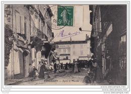 33) CASTILLON SUR DORDOGNE (GIRONDE) APRÉS LE MARCHÉ   -  (TRÉS ANIMÉE) - France