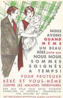 Santé: Protéger Bébé Et Vous-même Contre Les Maladies Héréditaires (traitement Syphilis) - Carte Illustrée Non Circulée - Health