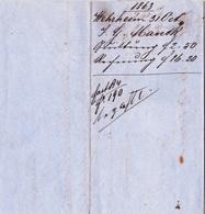 Wehrheim Im Taunus, Brief Von 1863 - Historical Documents
