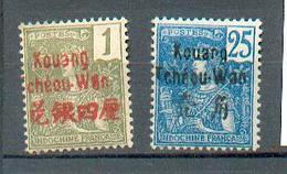 Kouang 76  - YT 1 Et 8 *  - CC - Kouang-Tchéou (1906-1945)