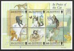 "91817) FRANCOBOLLI ALDERNEY 1996 ""GATTI ANIMALI DOMESTICI FAUNA"" -IN BF-MNH** - Alderney"