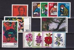 BRD 1974 12 Marken Alle Falzlos Michel 793 - 800/803 -815/821 - [7] West-Duitsland