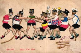 CPA MILITARIA HUMORISTIQUE - SPORT BELLICO 1914 - Humor