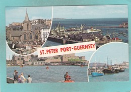 Small Multi View Post Card Of St,Peter Port,Guernsey,Channel Islands,K81 - Guernsey