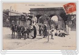 MASCARA (ALGÉRIE) PORTE D ORAN - TRANSPORT DILIGENCE - MARCHAND AMBULANT - Autres Villes
