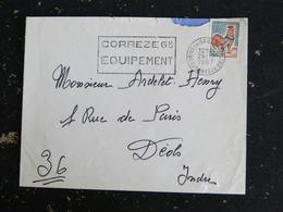 BRIVE LA GAILLARDE GARE - CORREZE - FLAMME CORREZE 68 EQUIPEMENT SUR COQ DECARIS - Marcophilie (Lettres)