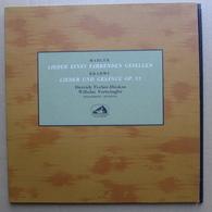 LP/ Furtwängler, Fischer Dieskau; Mahler – Lieder Eines Fahrenden Gesellen ; Brahms – Lieder Und Gesänge Op 32 - Klassiekers