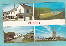 Small Multi View Post Card Of Cubert,Cornwall,K81 - England