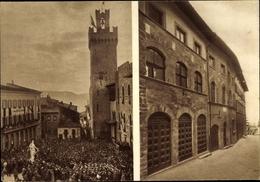 Cp Arezzo Toscana, Inaugurazione Della Casa Del Mutilato 1933 - Altri