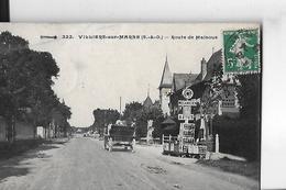 VILLIERS SUR MARNE N 322   ROUTE DE MALNOUE  VOITURE   GARAGE PUB    DEPT 94 - Villiers Sur Marne