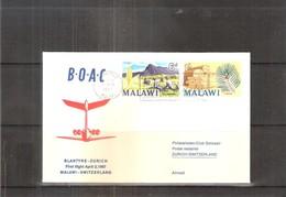 1er Vol B.O.A.C Du Malawi Vers La Suisse - 1967 (à Voir) - Malawi (1964-...)