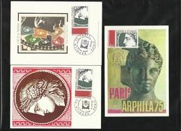 3 FDC Cartes Maximum Premier Jour Paris Le 17/05/1975 N°1833   Cérès   Expo Arphila 75 TB Soldé à Moins De  20 % ! ! ! - 1970-1979