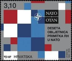 CROATIA 2019,CROATIA IN NATO,10 YEARS,SHEET,,,MNH - Militaria