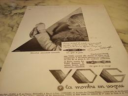 ANCIENNE PUBLICITE MONTRE VOG LA MONTRE EN VOGUE  1929 - Autres