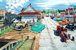 №181.6 Postcard Modern Rare New Locomotive Retro Transport City Life - Illustrators & Photographers
