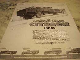 ANCIENNE PUBLICITE CAMION LEGER DE CITROEN  1929 - Trucks