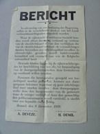 Affiche/Poster Ordonnantie 9-12-1939. Mobilisatie. Rijkswacht & Militaire Controle Vreemdelingen Doorgang - Affiches