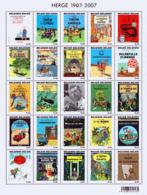 Belgium BL 143**  HERGE 1907-2007 Tintin  2 - Blocs 1962-....