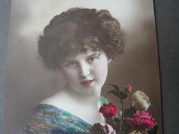 Schönes Mädchen Motiv, Mädchen, Portrait, Fillet, Girl, Child Ca.1916 - Abbildungen