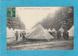 Fontainebleau-Avon. - Camp Du Bréau. - Militaires. - Fontainebleau