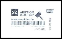 Bund / Post Modern: Stempel 'SZ-Auktion, 2017' / Cancel 'Saxon Newspaper Auction' - Privados & Locales