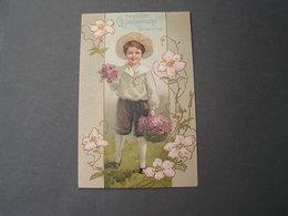 Namenstag Präge Litho Weiden 1909 - Abbildungen