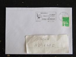 NEUVIC - CORREZE - FLAMME 1er MAI CONCOURS COQS DE PECHE SUR LIBERTE GANDON - Marcophilie (Lettres)