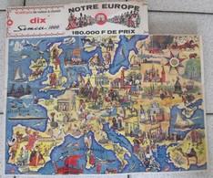 "Album D'images Biscottes Prior. Poster Collecteur ""notre Europe"". Vers 1950. Complet - Other"