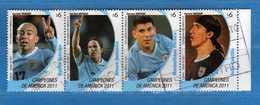 (Us.1)  URUGUAY °- 2011 -Champions De La Coupe De L'America . Usati.  Vedi Descrizione. - Uruguay