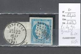 France  Obliteration  Petit Chiffre Du  Gros Chiffre 1654 - Ginestas   Dans L'Aude - Marcophilie (Timbres Détachés)
