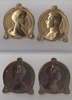 Médaillons Bronze Roi Albert 1916 - 1914-18