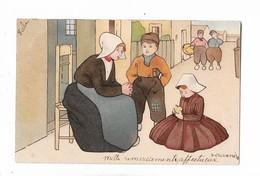 Mére  Hollandaise  Qui  Parle  A  Ses  Enfants - Dessins D'enfants