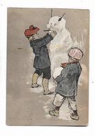 2  Fils  Font   Bonhomme  De  Neige - Dessins D'enfants