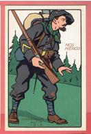 NOS HEROS UNIFORME CHASSEUR ALPIN 1915 CARTE EN TRES BON ETAT WWI GUERRE 1914 1918 - Guerre 1914-18