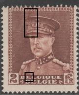 321**  Maculature Képi, 1er E Belgique  .. - Abarten Und Kuriositäten