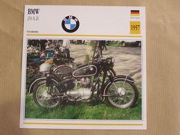 BMW 250 R 26 Allemagne 1957  Moto Fiche Descriptive Motocyclette Motos Motorcycle Motocyclette - Geïllustreerde Kaarten