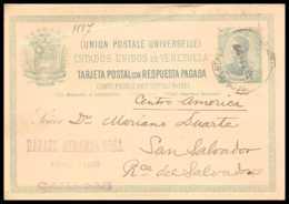 4523 Caracas 1890 Carte Postale Venezuela Entier Postal Stationery - Venezuela