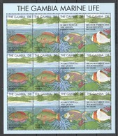 M849 GAMBIA FISH & MARINE LIFE 1SH MNH - Marine Life