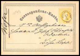4642 Schluckenau 1876 Carte Postale Autriche (Austria) Entier Postal Stationery - Ganzsachen