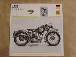 ARDIE 505 RBK Bergfreund  Allemagne 1937  Moto Fiche Descriptive Motocyclette Motos Motorcycle Motocyclette - Picture Cards
