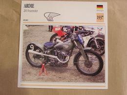 ARDIE 200 Feuerreiter  Allemagne 1937  Moto Fiche Descriptive Motocyclette Motos Motorcycle Motocyclette - Geïllustreerde Kaarten