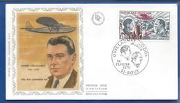 Enveloppe 1° Jour   Aviateur  Henri Guillaumet   Oblitération: Bouy 24 Février 1973 - Postmark Collection (Covers)