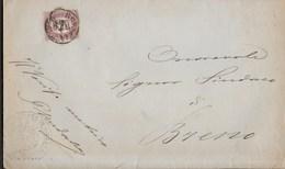 STORIA POSTALE REGNO - SERVIZIO DI STATO CENT. 20 SU PIEGO 1876 DA BRESCIA - 1861-78 Vittorio Emanuele II