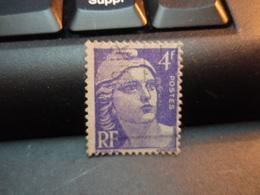 Timbre Marianne De Gandon  Violet 4 F - Used Stamps