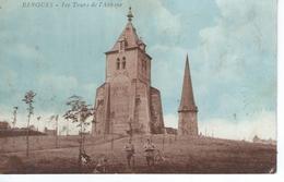 CPA - 59 - BERGUES - Les Tours De L'Abbaye - Petite Animation , Chiens, - Bon état - - Bergues
